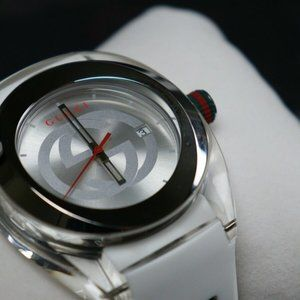 NWT! Gucci White Swiss Quartz Sync Watch